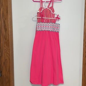 Bundle of two long pink sundresses.
